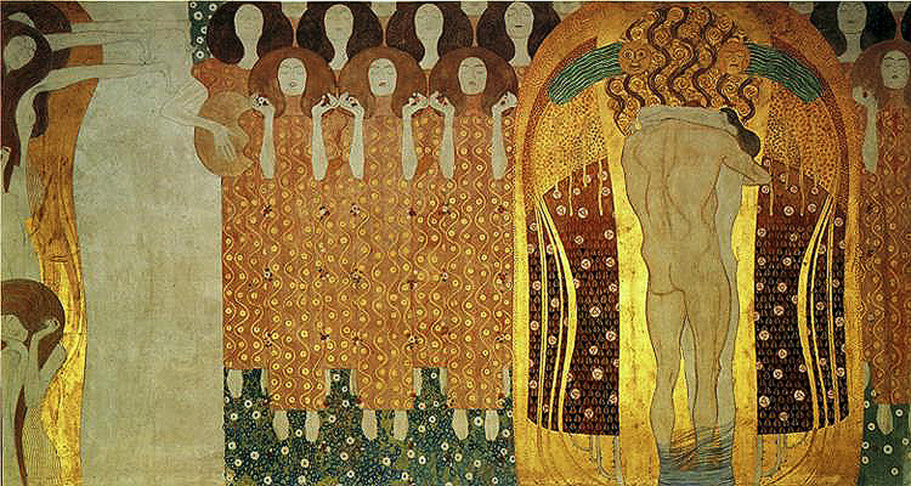 "Photo of KRYEVEPRA TE ARTIT / ""Beethoven Frieze"", nga Gustav Klimt"