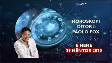 Photo of HOROSKOP / Parashikimi i Paolo Fox për ditën e hënë, 30 nëntor 2020