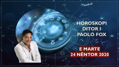 Photo of Parashikimi i astrologut PAOLO FOX për ditën e martë, 24 nëntor 2020