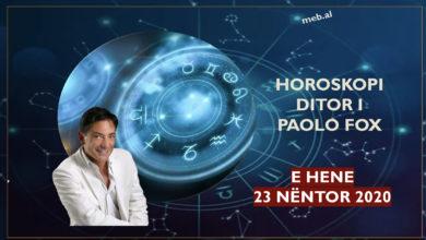 Photo of Parashikimi i astrologut PAOLO FOX për ditën e hënë, 23 nëntor 2020