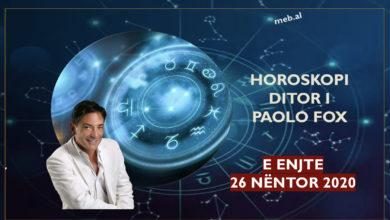 Photo of Parashikimi i PAOLO FOX për ditën e enjte, 26 nëntor 2020