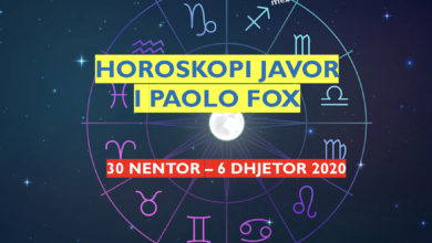 Photo of HOROSKOPI JAVOR i astrologut Paolo Fox, 30 nëntor – 6 dhjetor 2020