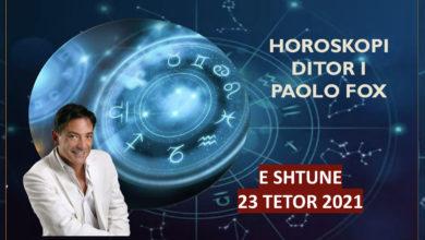 Photo of Horoskopi i Paolo Fox për ditën e shtunë, 23 tetor 2021